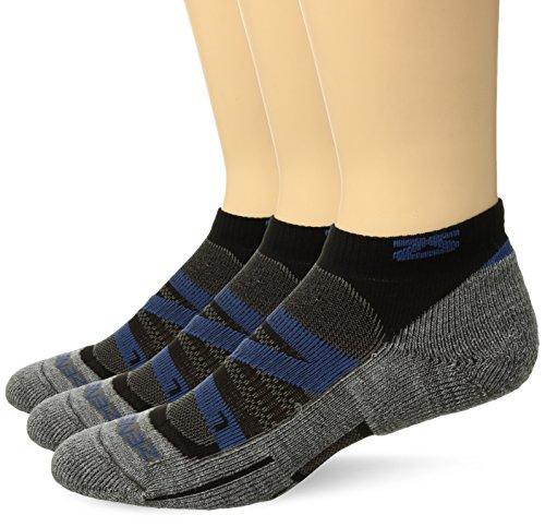 Zensah Wool Running Socks, Navy - 3 Pack, Large (Men's 10-12.5, Women's 11.5-14)