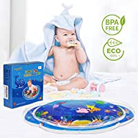 Newest Inflatable Infant Activity Play Mat Sensory Toys for Your Babys Stimulation Growth BPA Free 28x22 inch Seeyentic Tummy Time Baby Water Mat