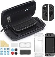 iAmer 11 in 1 Zubehör für Nintendo Switch, Tasche für Nintendo Switch and Transparent Hülle and 3 Displayschutzfolie and...