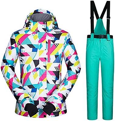Chaquetas y Pantalones de Esquiar de Las Mujeres Ropa de la Snowboard Trajes de esquí a Prueba de Viento Calientes: Amazon.es: Deportes y aire libre