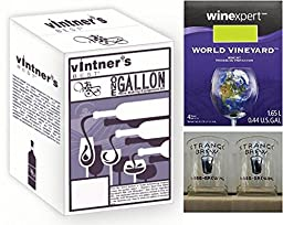 Vintner\'s Best One Gallon Wine Making Equipment Kit with One Gallon Moscato Ingredients and (2) Strange Brew Tasting Glasses by Strange Brew
