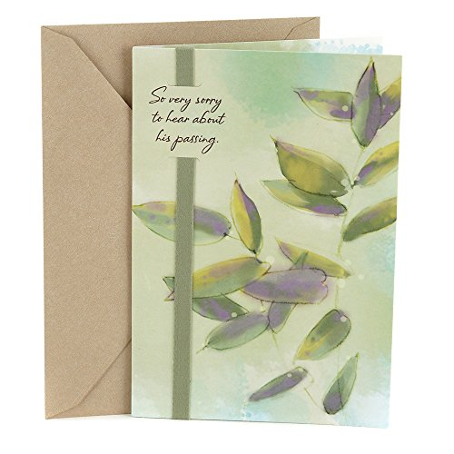 Hallmark Sympathy Greeting Card for Loss of Him (Leaves)