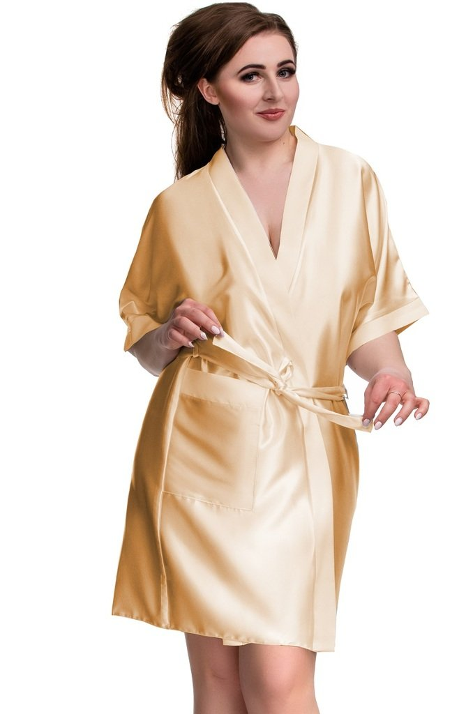Nine X Luxury Satin Dressing Gown S- 7XL, 8-26, 10 Colours, Plus Size Kimono Robe
