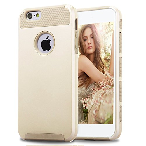 iPhone 5s Case,iPhone SE Case,iPhone 5 Case,by Ailun,Soft TPU Bumper&Hard Shell Solid PC Back,Shock-Absorption&Anti-Scratch Hybrid Dual-Layer Slim Cover[Gold]