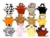 Playscene0153; Velour Animal Finger 8 Inch Puppets, Kids Toy Preschool Kindergarten Puppets (24 Puppets)