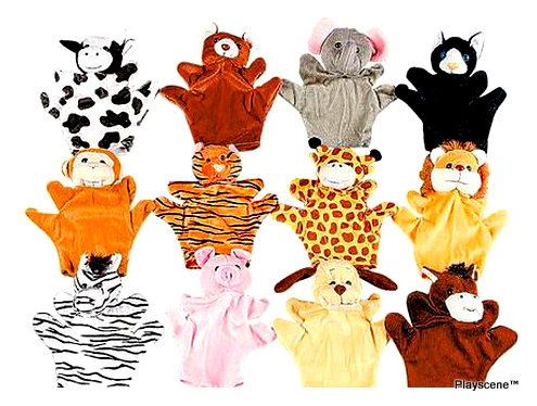 Playscene0153; Velour Animal Finger 8 Inch Puppets, Kids Toy Preschool Kindergarten Puppets (24 Puppets) by Playscene™