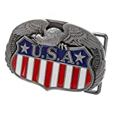 Buckle Rage Men's American Eagle USA Shield Flag Logo Country Pride Belt Buckle