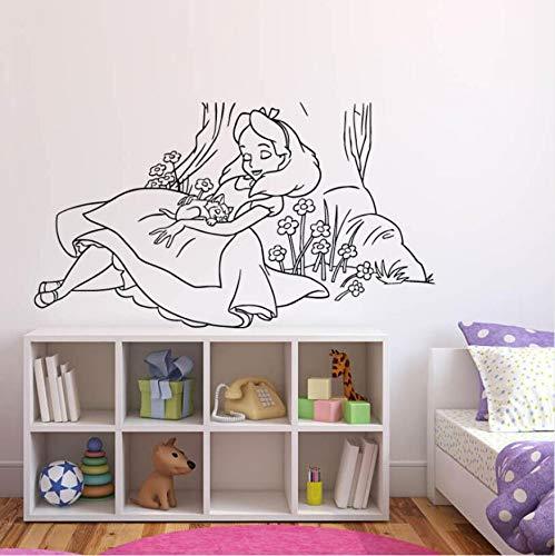 Your boy-HT Cartoon Wall Decal Kids Room Decoration Nursery Wall Art Murals Princess Style Vinyl Stickers 74x42cm