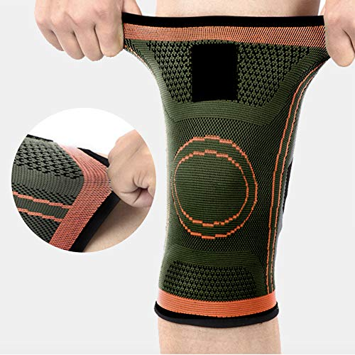 Compression Knee Sleeve Brace with Side Straps - Knee Brace Pads Support for Men & Women - 1 Pcs (Universal Size)