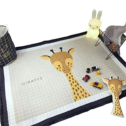 IHEARTYOU Baby Crawling Mat Cute Giraffe Play Carpet Children Bedroom Decor Living Room Rugs ()