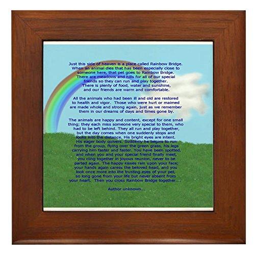 (CafePress - Rainbow Bridge - Framed Tile, Decorative Tile Wall Hanging)