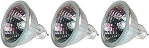 GE Lighting 85289 20-Watt Track and Recessed MR16 Halogen Light Bulb, Clear, 3-Pack