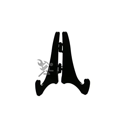 (6) Mini Hinged Black Acrylic Easels 2.125u0026quot;H Extra Small Plate  sc 1 st  Amazon.com & Amazon.com: (6) Mini Hinged Black Acrylic Easels 2.125