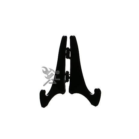 (6) Mini Hinged Black Acrylic Easels 2.125\u0026quot;H Extra Small Plate  sc 1 st  Amazon.com & Amazon.com: (6) Mini Hinged Black Acrylic Easels 2.125\