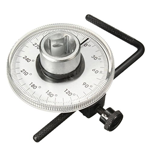AUWU 360° 1/2 Inch Drive Torque Angle Gauge Meter Angle Rotation Repair Tools Torque Gauge Wrench Set by AUWU (Image #1)