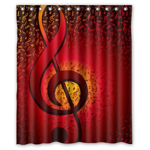 Musical Note Shower Curtains