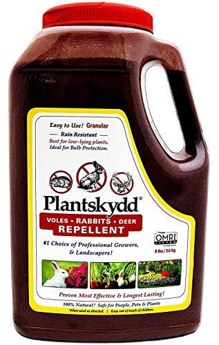 Plantskydd PS-VRD-8 Granular Animal Repellent for Deer, Rabbits and Voles,Also for Deer,elk,Moose 8 LB Shaker Jug (8 lb)