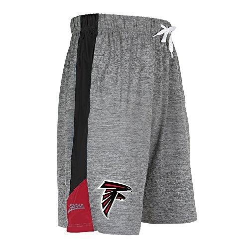 (ZUBAZ Adult Men's NFL Zebra Print Accent Team Logo Active Shorts, Space Dye, Small)