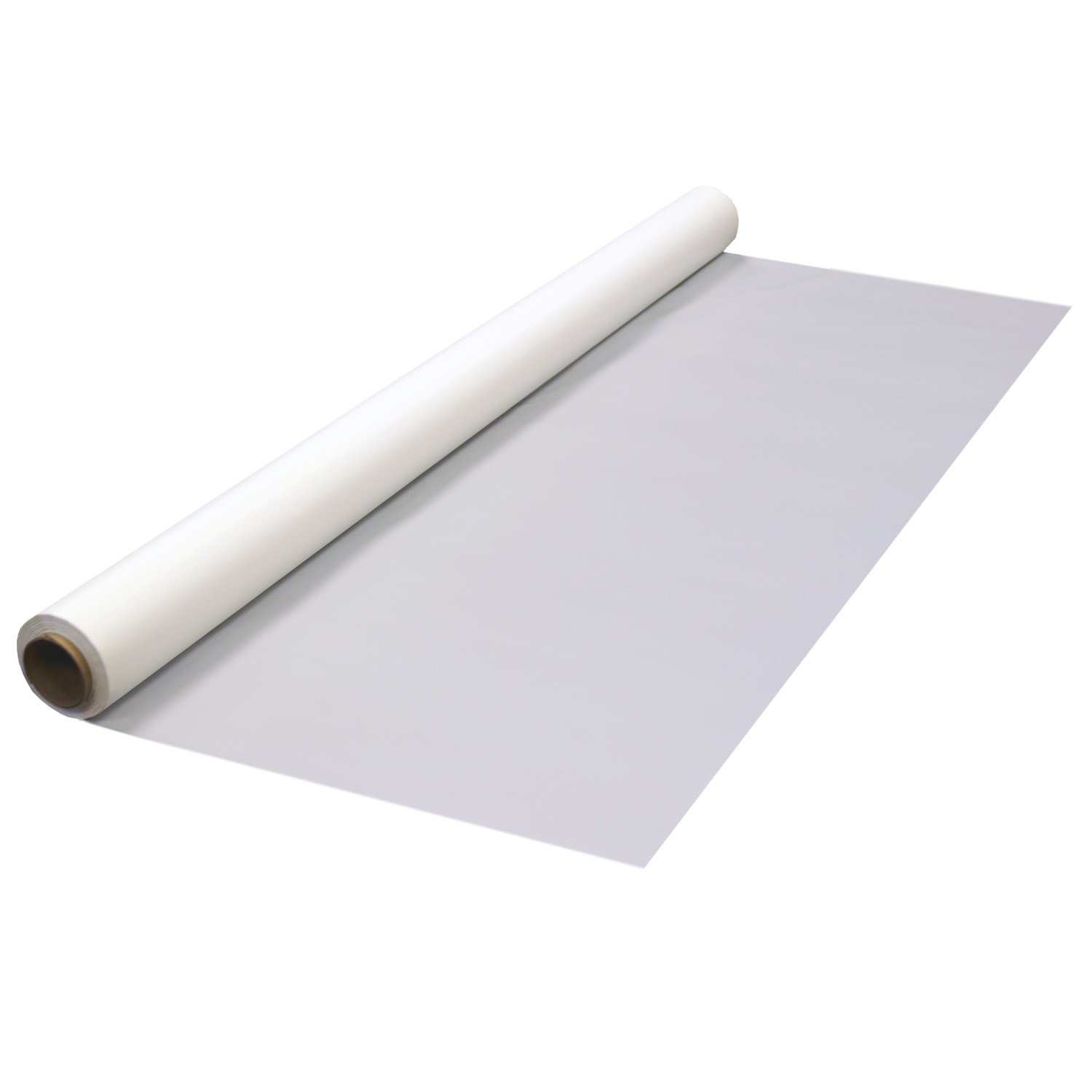 Party Essentials Plastic Banquet Table Roll Available in 27 Colors, 40'' x 100', White