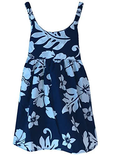 Alohawears Clothing Company Girl's Hibiscus Classic Cruise Luau Hawaiian Aloha Bungee Dress (4, ()