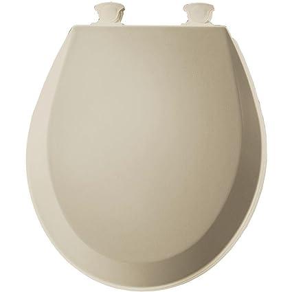 easy home toilet seat. Bemis 500EC006 Molded Wood Round Toilet Seat With Easy Clean and Change  Hinge Bone Amazon com