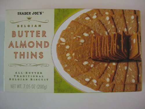 2 Packs Trader Joe's Belgian Butter Almond Thins 7.05 oz