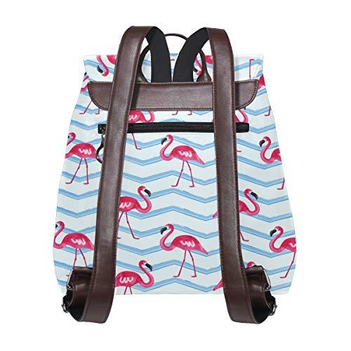 Flamingos mönster ryggsäck handväska mode PU-läder ryggsäck ledig ryggsäck för kvinnor
