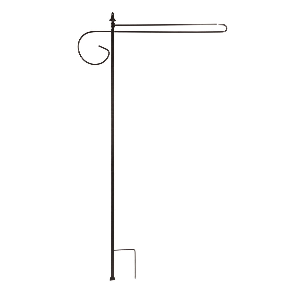 "Briarwood Lane 3 Piece Wrought Iron Wrap-Around House Flag Stand Black 62"" L"