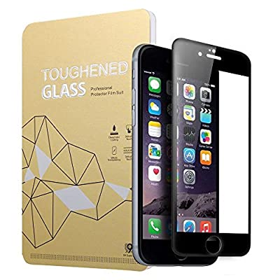 "iPhone 6/6S Edge to Edge Curved Screen Protector, Valuebuybuy 3D Tempered Glass Screen Protector for Apple iPhone 6/6S 4.7"" inch 9H Glass 3D Curve [3D Touch Compatible]& [Anti-fringerprint] 2016 NEW &HOT"