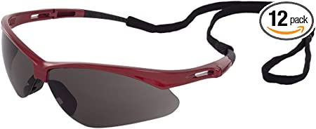 ERB Octane Safety Glasses with Blue Mirror Lens and Black Frame