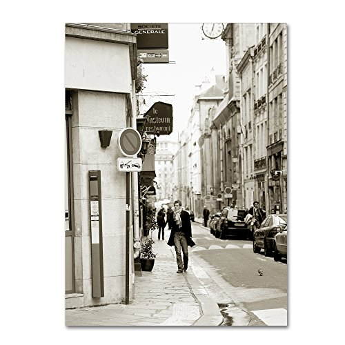 "picture of Trademark Fine Art Man in Paris by Preston Hanging Art Piece, 14""x19"""