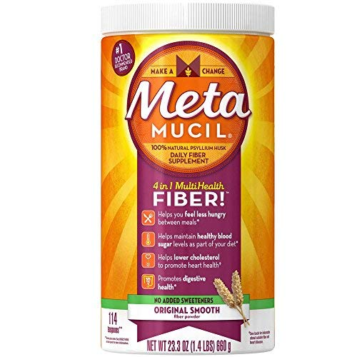 - Metamucil Smooth Texture Sugar-Free Unflavored 114 Each