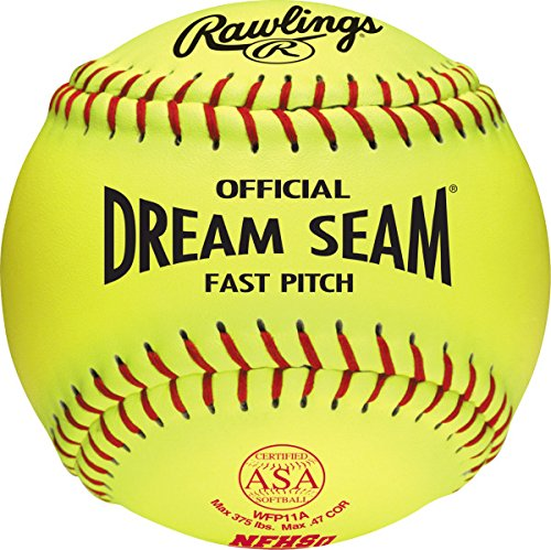 Rawlings Official Dream Seam ASA Fast Pitch Softball, WFP11A ()