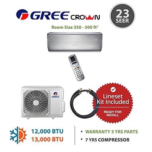 Gree CROWN12230-141250 - 12,000 BTU 23 SEER Wall Mounted Min