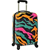 """Traveler's Choice Colorful Camouflage 21"""" Hardside Carry-On Spinner Luggage"""