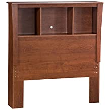 South Shore Furniture Jumper Collection, 39-Inch Twin-Size Bookcase Headboard, Classic Cherry