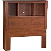 South Shore Furniture Jumper Collection 39-Inch Twin-Size Bookcase Headboard, Classic Cherry