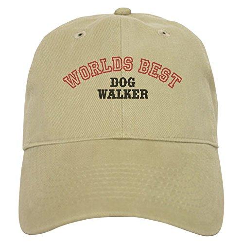 - CafePress Worlds Best Dog Walker Cap Baseball Cap with Adjustable Closure, Unique Printed Baseball Hat Khaki