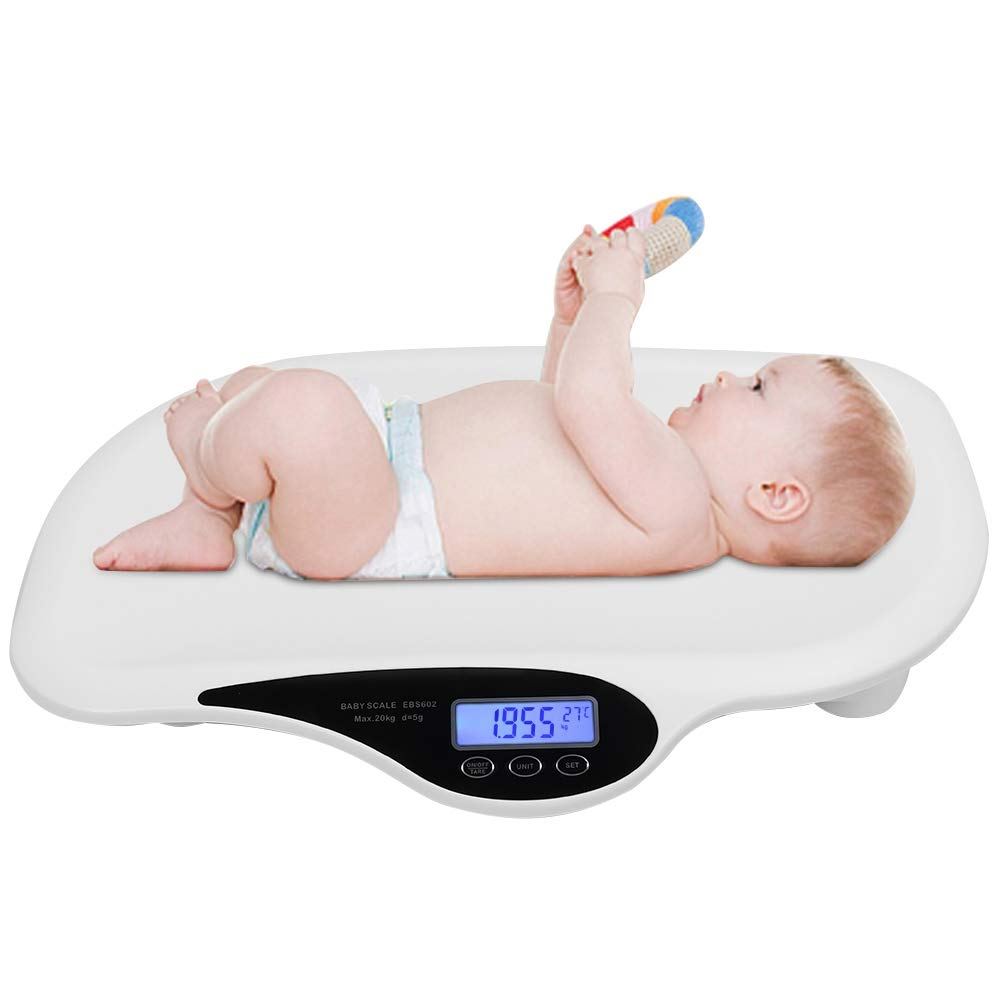 Comfort Baby Scales Smart Portable Electronic Digital Infant Accurate Weighing Scale for Infant Toddlers Pets 20KG 44LB Weight by Simlug