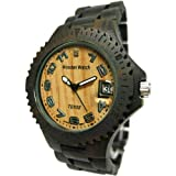 Tense Mens Natural Dark Sandalwood Sports Hypoallergenic Wood Watch G4100D ANLF, Watch Central