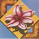 'Lily' oil painting, 20x20 inch / 51x51 cm ,printed on Perfect effect Canvas ,this High Definition Art Decorative Canvas Prints is perfectly suitalbe for Powder Room decor and Home gallery art and Gifts