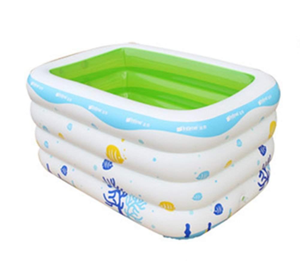 Adult Inflatable Bathtub, Folding Bathtub, Swimming Pool, Oversized Bathtub, Plastic Bathtub (Color : Green)
