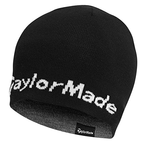 2015 TaylorMade Reversible Thermal Golf Beanie Double Knitted Mens Hat - Reversible Thermal
