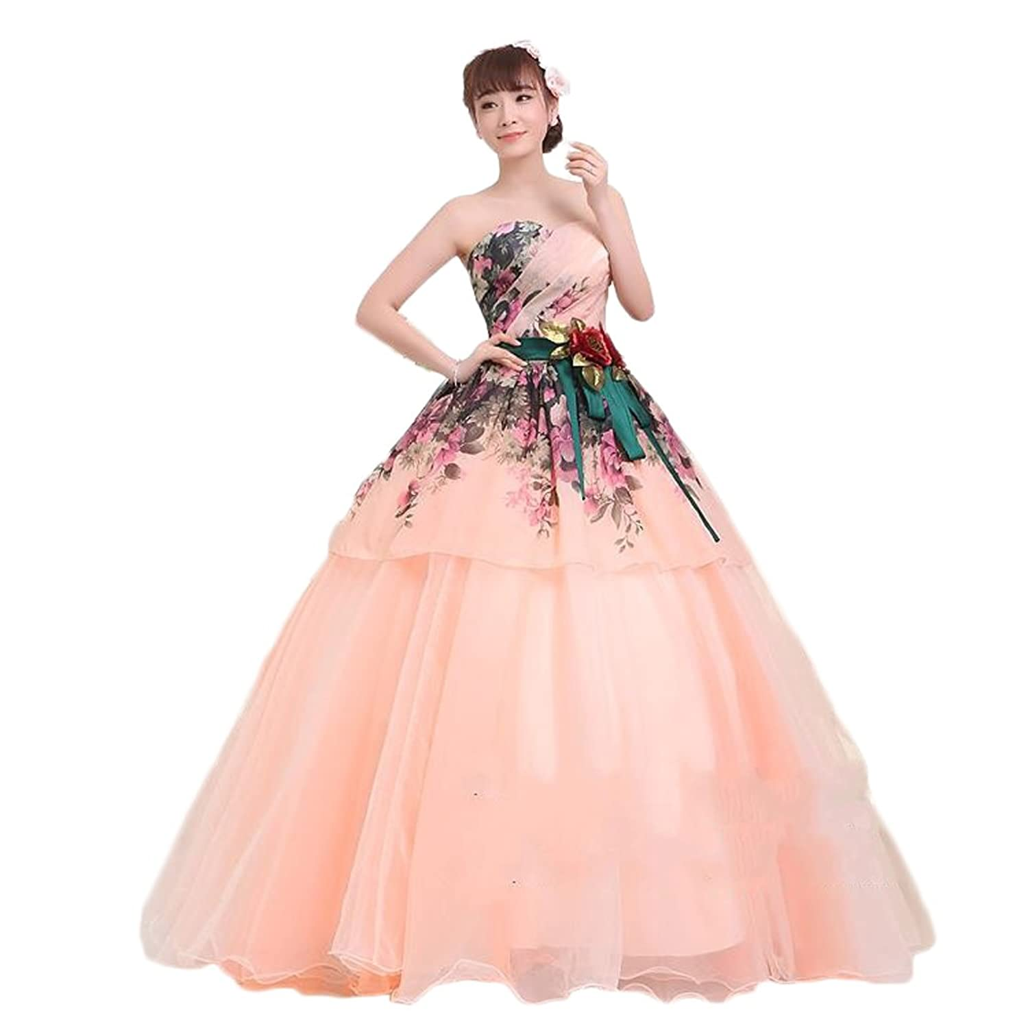 Leader of the Beauty Bow Gown Flowers Girl Quinceanera Dress Prom Gown