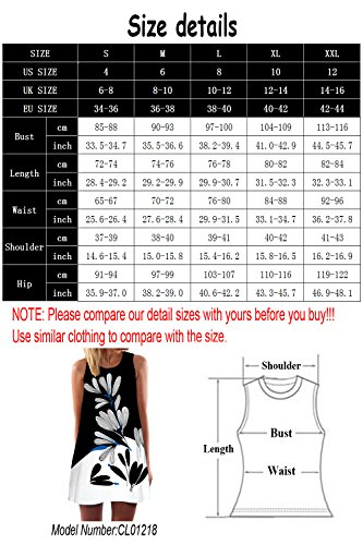 Shopping Chiffon Dresses Women 365 Casual Summer Beach Floral 2 Type Print Dress for dn6xU06