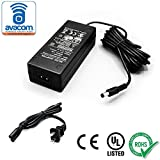 AVACOM AC/DC Adapter, Power Supply, 24V/2A, UL listed, 10ft Cord, 5.5mm x 2.1mm Connector