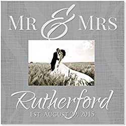 """Personalized Picture Frame for 5"""" x 7"""" Photo 12"""" x 12"""" Overall Size"""