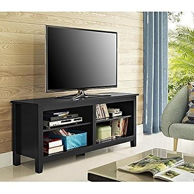 "WE Furniture 58"" Wood Corner TV Stand Console"