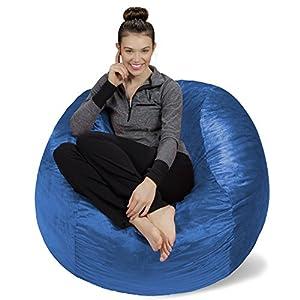 Sofa Sack – Bean Bags Memory Foam Bean Bag Chair, 4-Feet, Royal Blue
