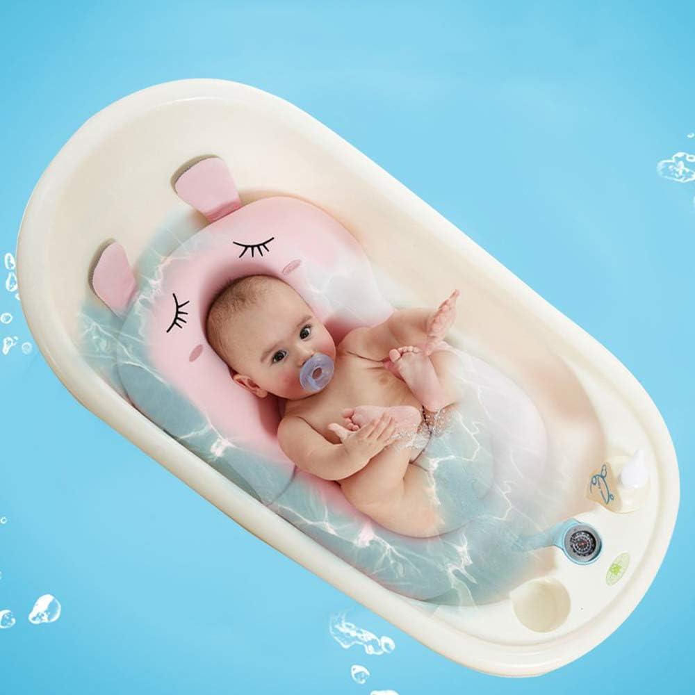 Rose si/ège de coussin anti-d/érapant pour nouveau-n/é Coussin de bain pour b/éb/é UNAOIWN coussin de baignoire pour baigneur flottant pour nourrisson /éponge coussin de douche de b/éb/é